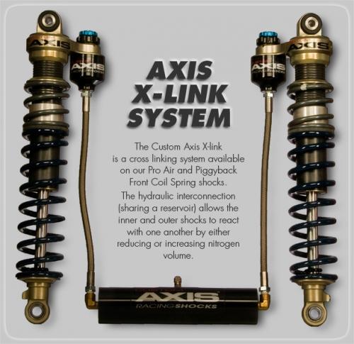 Custom Axis Pro Air Front Shocks Honda TRX 450 - Immortal ATV