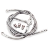 Galfer Front Steel Braided Brake Line Silver Honda TRX 450R and 450ER